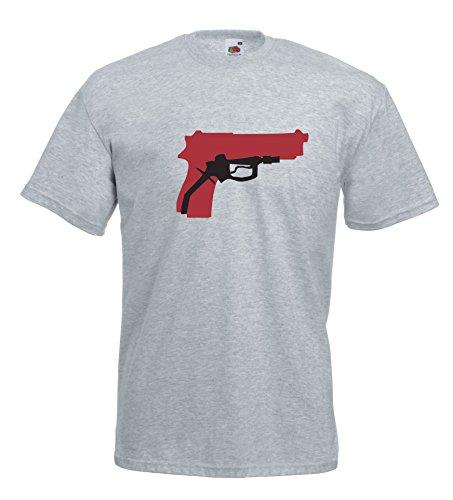 Settantallora - T-shirt Maglietta J129 Pieno Benzina Rapina Grigio