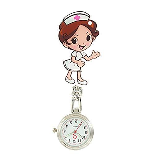 LAAT Reloj de Bolsillo de Cuarzo, diseño de Enfermera Relojes de Bolsillo para Mujeres, Doctor