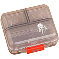 Reise tragbare Kit Dispenser Box tragbare Medizin Box (grau) preisvergleich bei billige-tabletten.eu