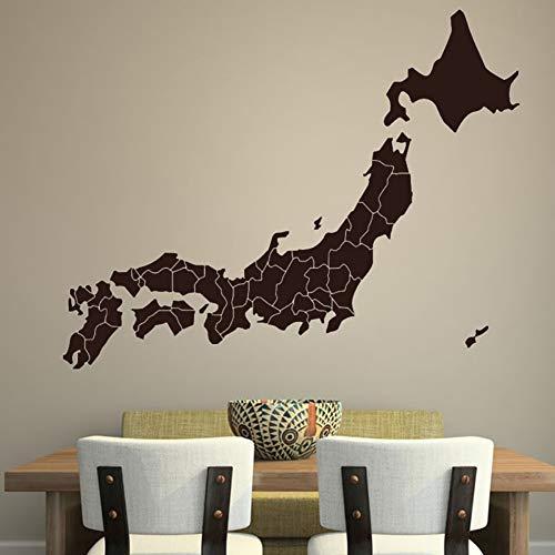 Chellonm Estilo Vintage Decoración Del Hogar Mapa De Japón Etiqueta De La Pared Del Esquema De Vinilo Removible Wallpaper Calcomanía Para El Comedor 75 * 59 Cm