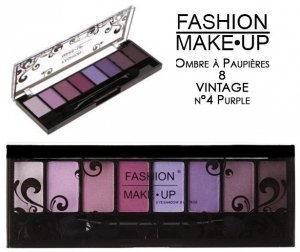 PALETTE DE MAQUILLAGE DéGRADé VIOLET ROSE 8 TONS