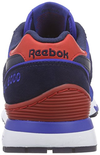 Reebok GL 6000 Athletic, Scarpe da Corsa Bambino Blu / Rosso (Collegiate Royal / Collegiate Navy / Scarlet)