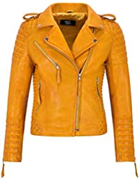 the latest ee62e 95c0a Amazon.it: giacca pelle - Giallo / Donna: Abbigliamento