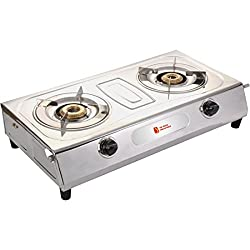 Blue Star Shine Eagle Stainless Steel Automatic ignition 2 Burner Gas Stoves.(Two Burner)