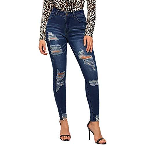 Produp Damen Sexy Elegante Trend Stretch Jeans Niedrige Taille Stretch Dünne Bleistifthosen Jeans Hosen -