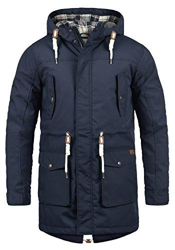 !Solid Chara Herren Winter Jacke Parka Mantel Lange Winterjacke gefüttert mit Kapuze, Größe:XL, Farbe:Insignia Blue (1991)