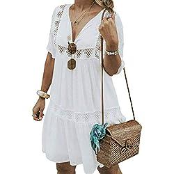 Vestidos De Fiesta para Bodas Talla Grandes Vestidos Playa Mujer Vestidos Casuales Vestido Midi Vestido Verano Vestidos Mujer Vestido, S - 5XL