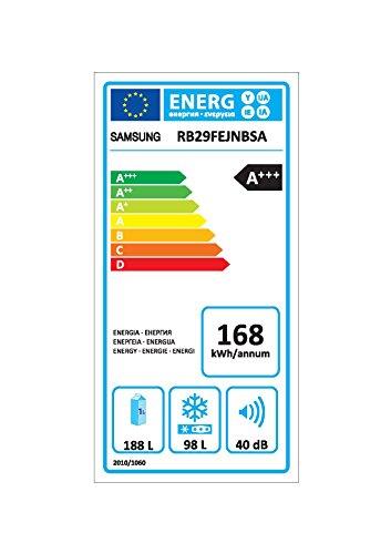Bild 7: Samsung RB29FEJNBSA/EF Kühl-Gefrier-Kombination / A+++ / 168 kWh/Jahr / 173 L Kühlteil / Edelstahl Look (Metal graphic) / 98 L Gefrierteil / No Frost