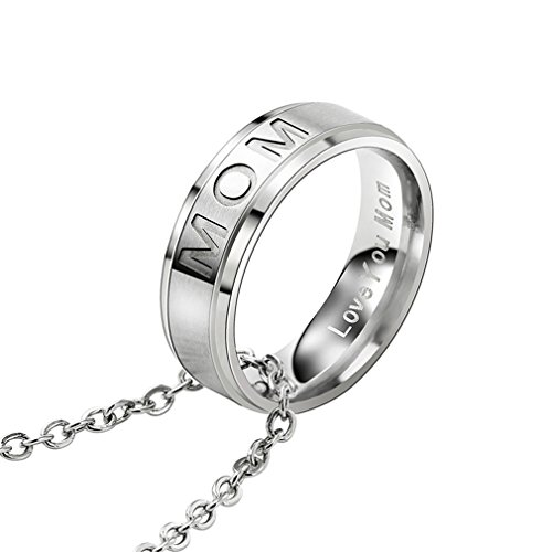 Mom-ring-schmuck (Yinew MOM Stil Schmuck Damen Ring Anhänger Halskette Damen Halskette)