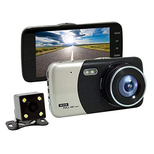 ZXZXZX Autokamera Dashcam, 1080P Full HD DVR Autokamera 4 Zoll LCD-Bildschirm 170 ° Weitwinkel, G-Sensor,Parkmonitor,Loop-Aufnahme, Bewegungserkennung -