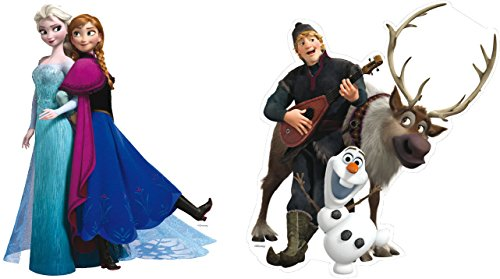 Disney 2 Figuren * Frozen - DIE EISKÖNIGIN * für Kindergeburtstag oder Motto-Party // Kinder Geburtstag Party Anna ELSA Olaf Tischdeko Motto -
