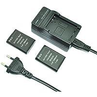 mondpalast@ 2X Reemplazo Li-ion batería EN-EL23 ENEL23 1800mAh + cargador para Nikon Coolpix P600 COOLPIX S810c P610 P900