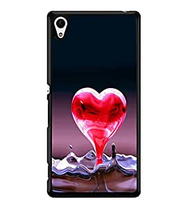 printtech Heart Water Design Back Case Cover for Sony Xperia Z4 , Sony Xperia Z4 E6553
