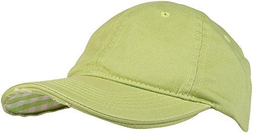 styleBREAKER Vintage Baseball Cap mit karierter und gefütterter Unterseite, verstellbar, Unisex 04023048, Farbe:Hellgrün / Limettengrün-Weiß kariert Plaid Visor Cap