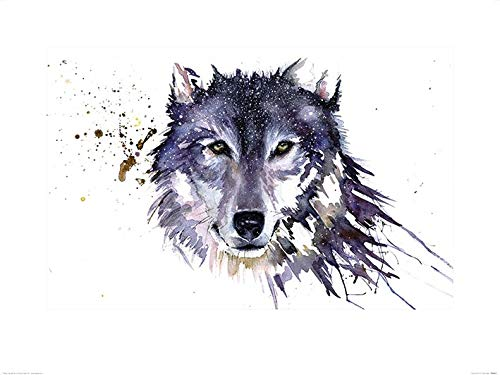 El Arte Grupo Sarah Stokes Nieve Lobo–Lámina