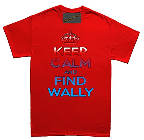 Renowned Keep calm and find wally Herren T Shirt Rot