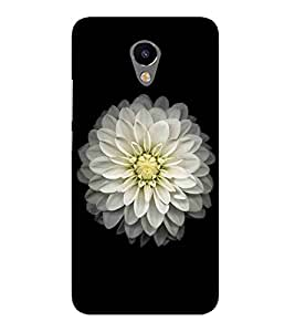 For Meizu M2 white flower, flower, black background Designer Printed High Quality Smooth Matte Protective Mobile Case Back Pouch Cover by APEX