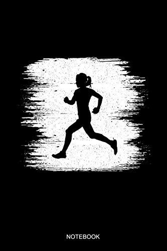 Notebook: Liniertes Notizbuch - Vintage Läufer Sprinter Leichtathletik Sportler Mädchen Geschenk