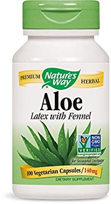 Natures Way Aloe Vera Latex And Leaf 100 Vegetarian Capsules from Natures Way