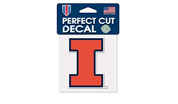 WinCraft NCAA Illinois Illini 4x4 Perfect Cut Color Decal One Size Team Color