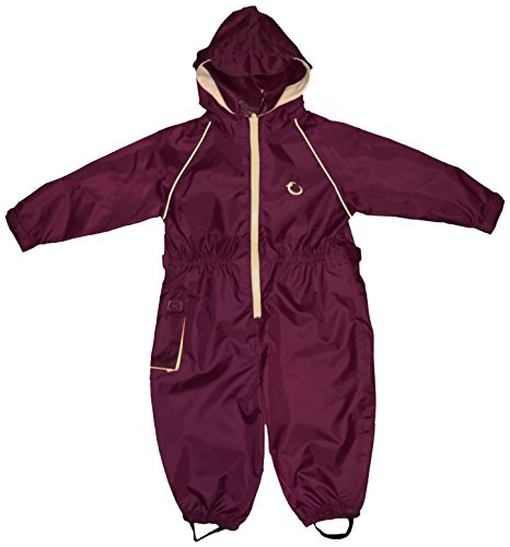 Hippychick Waterproof All-in-One Suit - Burgundy/Sand, 12-18 Months