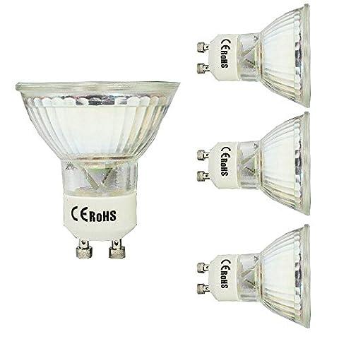 Ampoule LED Photographie Ampoule, 5 W Lampe Tasse 60 Perles 2835 Chipset, 120 ° Angle de faisceau, Cool Blanc 6000 K 4pcs
