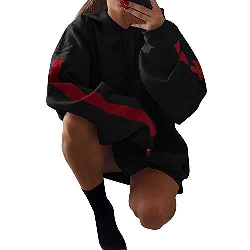 Preisvergleich Produktbild TianWlio Damen Hoodie Frauen Langarm Hoodie Mode Langarm Herbst Winter Mode lose Patchwork Kleidung Hoodies Pullover Mantel Hoody Sweatshirt