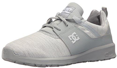 DC Women's Heathrow TX SE Skate Shoe, Grey/Grey/Grey, 5 B US (Dc-cross-trainer)