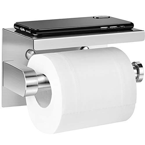 Preisvergleich Produktbild Toilettenpapierhalter Ohne Bohren,  Aikzik Selbstklebend Toilettenpapierrollenhalter Edelstahl Klopapierhalter,  für Küche und Badzimmer WC