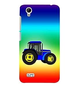 Fiobs Designer Back Case Cover for Vivo Y27 :: VivoY27L (Tractor Symbol Multicolor)