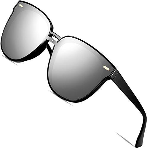 SIPLION Damen Sonnenbrille UV400 Schutz Polarisierte D177 Silver