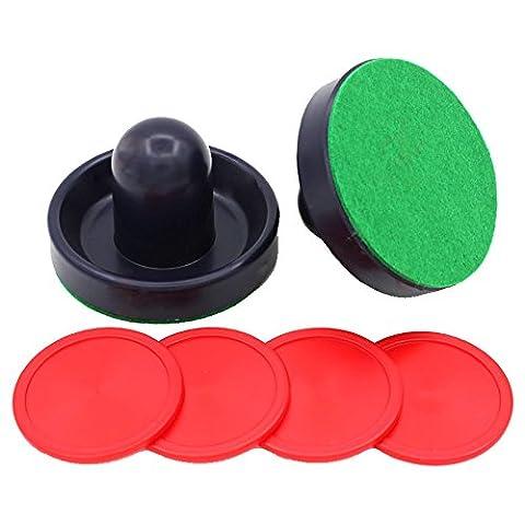 Poids léger Air Hockey Bleu foncé de remplacement palets et Slider Pusher poussoirs pour tables de jeu, équipements, accessoires