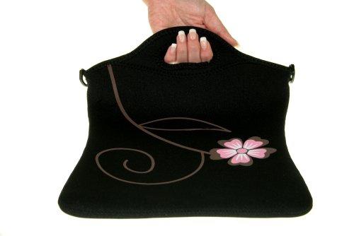 Netbooktasche oder Notebooktasche Flower Maße: ca. 25 x 32cm 100 Prozent Neopren SEHR HOHE QUALITÄT