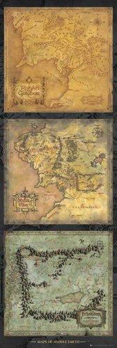 Poster trittico da porta Lo Hobbit, La Desolazione di Smaug + omaggio multicolore