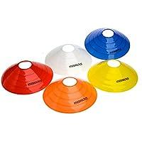 Fitness Health, coni da allenamento adatti per il calcio, il rugby e l'hockey, FH-SPEED-CONE-25, Red, Yellow, Blue, White, Orange, Cones 10 - 2 each colour