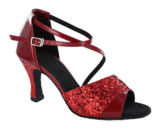 TDA - Ballroom donna 7.5cm Red