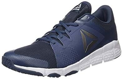 Reebok Trainflex, Chaussures de Fitness Homme, Bleu (Smoky Indigo/White/Pewter), 40 EU