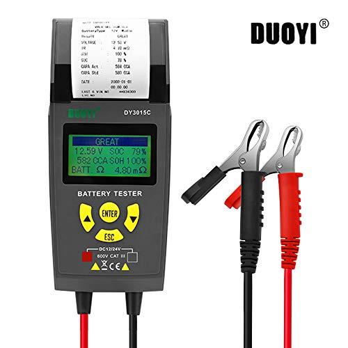Autobatterietester 12V/24V Autobatteriesystemtester Anlassen und Laden Test System Analyzer Scan-Tool mit Drucker für schwere Lkw, Autos, Motorräder und mehr
