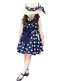 Vestido para niña, K-youth® Baratas Bebe Niño Ropa Bebe Niña Vestido Niñas Lindo Patrón de Lunares Vestido Plisado Vestido Elegante
