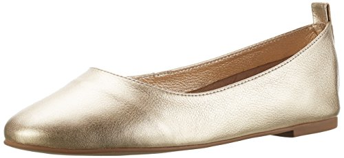Buffalo London Damen ZS 6272-16 Soft Tumbled Geschlossene Ballerinas, Gold (Gold 01), 38 EU