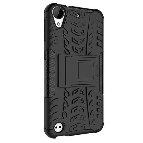 882b7f97ab9 SsHhUu Funda HTC Desire 530, Heavy Duty Amortiguamiento Cubrir Doble Capa  Combinación de Armadura con
