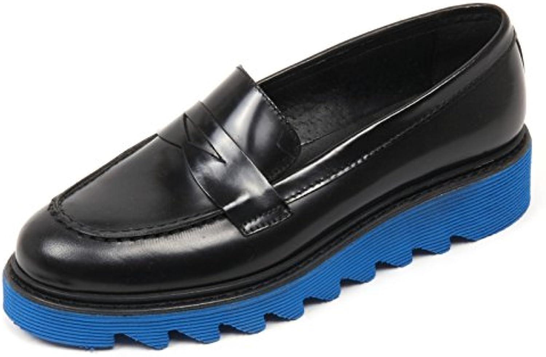 C3580 mocassino donna ANTICA CUOIERIA scarpa nero loafer shoe woman
