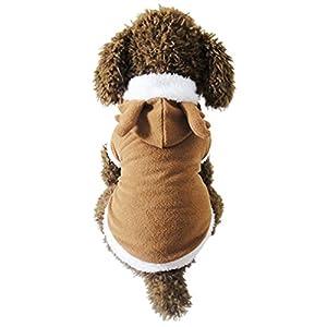 Vêtement Chien/Chat Angelof Manteau D'Hiver Animaux Sweat Veste Chiot Deguisement NoëL Elk Café Sweat-Shirt