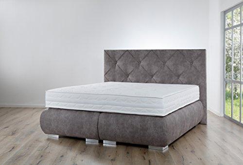 Boxspringbett Breckle Arga Palace - Premium Qualität - (180 x 220 cm, ohne Topper)