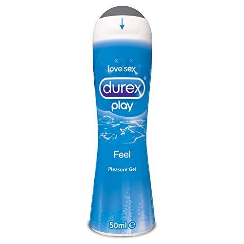 Durex Feel Pleasure Gel Lubrificante Intimo Effetto Seta a Base Acqua, 50 ml