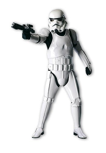 Prodotto con licenza ufficiale Stormtrooper Deluxe Costume per Adulti Star Wars–Taglia unica standard M/L
