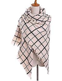 Daesar Bufanda de Cachemira Bufandas de Mujer Bufanda de Rejilla Bufanda Estolas Bufanda Otoño