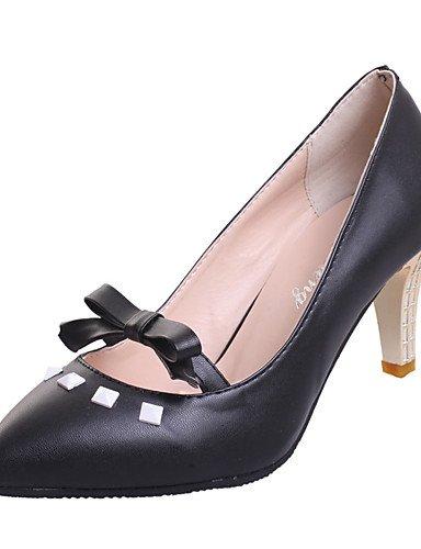 WSS 2016 Chaussures Femme-Bureau & Travail / Décontracté / Soirée & Evénement-Noir / Rose / Blanc-Talon Aiguille-Talons / Bout Pointu-Chaussures à pink-us7.5 / eu38 / uk5.5 / cn38