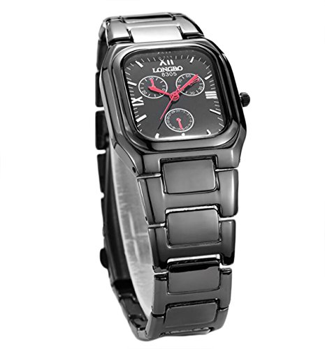 LONGBO beliebten Platz Uhren Männer das Geschäft wasserdichte Stahl Quarz schwarz Uhren 8305 beobachten