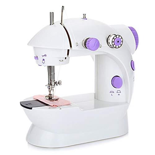 HEHEERHUO 100% Brand newNähmaschine mit leichtem Haushaltselektrisch Mini-tragbare Nähmaschine, mit einstellbarem Drehzahlpedal, Snack-dicken Pedal-Nähmaschine - Pedale Nähmaschinen